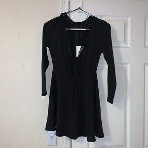 ASOS 3/4 Sleeve Deep V Dress
